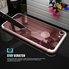 Mirror Back Cover with Rubber Crystal Clear Bumper Case Cover for Apple iPhone 7