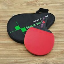 Carbon Fiber Training Table Tennis Racket Ping Pong Paddle Bat Long Short Handle