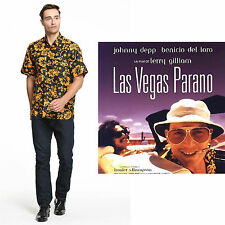 Fear and Loathing in Las Vegas Raoul Duke Costume Shirt Cosplay Halloween(S-2XL)