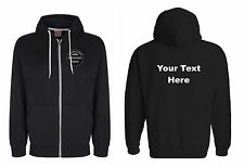 Zip up Embroidered Personalised Hoody Hoodie All Colours All Sizes Adult