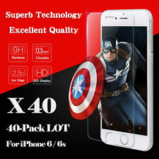 40 PCS Wholesale 9H Tempered Glass Screen Protector Film for Apple iPhone 6 Plus