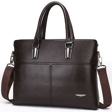 Men's Luxury Genuine Leather Messenger Bag Shoulder Laptop Bag Briefcase