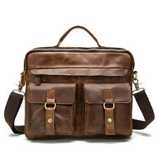 Genuine Leather Bag Cowhide Tote Briefcases Crossbody Bag Men's Messenger Bags