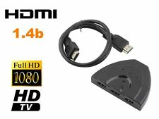 3 Port 1080P HDMI Splitter Cable Multi Switch Switcher For HDTV XBOX PS3  Lot KL