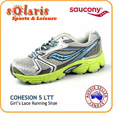Saucony Cohesion 5 LTT Girl's Lace Running Shoe for Toddler/Little Kid/Big Kid