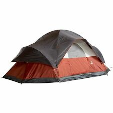 8 Person Tent Camping Hiking Dome Outdoor Family Red Spacious Waterproof Shelter