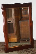 Vintage Shaped Mahogany Bevelled Pier Mirror - FREE Shipping [PL2642]