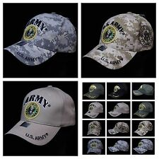 U.S. Army Cap Baseball Caps Licensed Veteran Military Hat Camo Hats