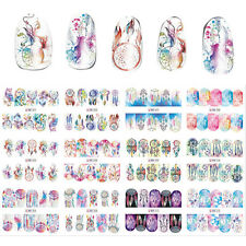 New 12 Sheets/Lot Mix Owl Dream Catcher Nail Art Water Transfer Decal Stickers