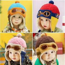 Winter Baby Earflap Kids Toddler Girl Boy Pilot Aviator Cap Soft Beanie Hat Warm