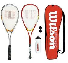 2 x Wilson Hyper Team 300 Squash Racket Set