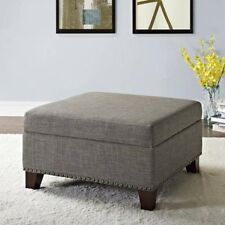 Better Homes and Gardens Grayson Linen Square Ottoman with Nailheads, Multiple C