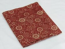Indian Vintage 100% Pure Cotton Red Printed Craft 10 Yard Fabric