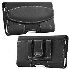 Luxmo Large Cell Phone Magnetic Leather Case Carrying Pouch Belt Clip Holster