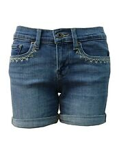 NWT Lucky Brand Roll Up Jean Short with Embroidery