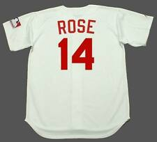 PETE ROSE Cincinnati Reds 1969 Majestic Cooperstown Home Baseball Jersey