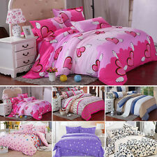 NEW SOFT DUVET COVER WITH PILLOW CASE QUILT COVER BEDDING SET SINGLE DOUBLE KING