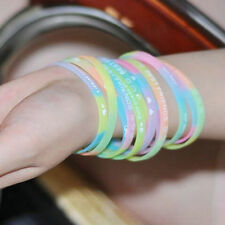 Fashion GLOW IN THE DARK Luminous Silicone Rubber Wristband Wrist Band Bracelet