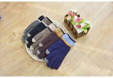 Outdoor Dual-layer Thickened Cashmere Men's Knitted Touchscreen Gloves Mittens