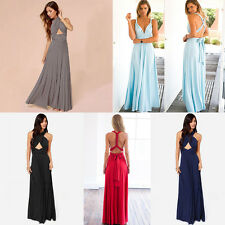Sexy Convertible Multi Wear Bridesmaid Formal Wedding Party Pageant Dress HOT