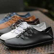 New Mens leather Moccasins Lace Up Flat Comfort Driving shoes sz US 12.5 loafer