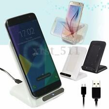Wireless QI Fast Charger Charging Stand Dock For Samsung Galaxy S8 Plus S7 +