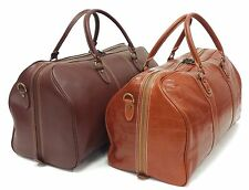 Large Real Leather Weekend Bag Duffle Luggage Holdall Tan Travel Brown Crocodile