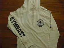 "Gymnastics "" GYMNAST' Long sleeved white hooded shirt."