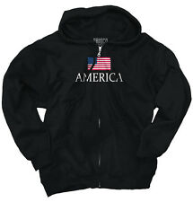 American Flag Eagle Pride Patriotic USA T Shirt Gift Ideas Zipper Hoodie