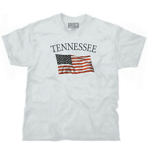 Tennessee Patriotic Home State American USA T Shirt Flag Gift T Shirt Tee