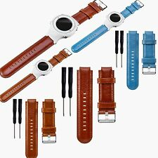 Genuine Leather Wrist Strap Band for Garmin Vivoactive Approach S2 S4 GPS Watch