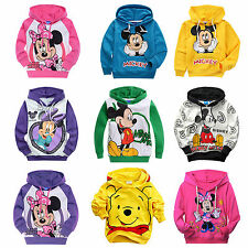 Kids Boys Girls Cartoon Mickey Minnie Mouse Hoodies Sweatshirt Long Sleeve Tops