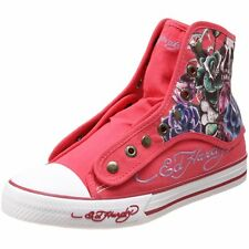 Ed Hardy Women's Newcastle Fuchsia Fashion Sneaker Shoes Canvas & Rubber Sole