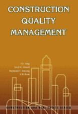 Construction Quality Management by Siu Lam Tang