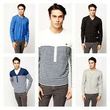 New Mens V Neck Sweater Long Sleeve Shirt Sweaters Jumpers - Acrylic Casual Knit