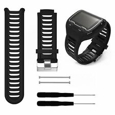 Soft Silicone Watch Band Strap for Garmin Forerunner 910XT GPS Watch w/Tools #BK