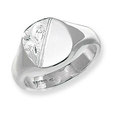 Solid Silver London Jewellery Quarter Heavy Cushion Men's Signet Ring Size T-Y