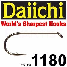 DAIICHI 1180 - Standard Dry Fly Hook - 25 Pack - Fly Tying Fishing NEW!
