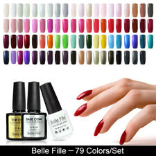 79 Candy Colors UV Gel Nail Polish Soak off Gel Varnish Nail Art BELLE FILLE 8ml