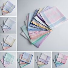 12 pieces / 6 pieces new type 25cm x25cm check-pattern 100% cotton handkerchiefs