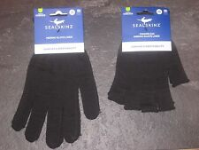 Sealskinz Thermal Merino Wool Gloves Liner Fingerless cycling running walking