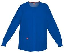 Scrubs Dickies Snap Front Warm-Up Jacket 86306 GBWZ Galaxy Blue Free Shipping