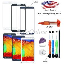 [White/Black/Blue] Front Screen Lens Glass Replacement For Samsung Note 3 N9000