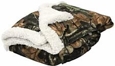 NEW Woodland Camo Plush Fleece Baby Mini Throw Gift Blanket [Pink or White ]