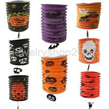 Halloween Scary Folding Paper Lantern Skull Pumpkin Bat Witch DIY Party Decor