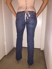 Women's GUESS Daredevil Bootcut Low Rise Stretch Jeans - Old River Wash Size 24