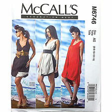 Misses Dress McCalls M6746 Sewing Pattern Generation Next Loose FItting c1743