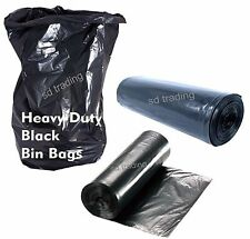 Black Bin Liners Bags Refuse Sacks Heavy Duty Home Kitchen British Made 85cm