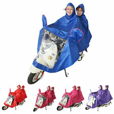 Waterproof Motorcycle Double-Person Raincoat Poncho Adult Hooded Raincoat L0