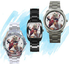 NEW Wrist Watch Stainless Sport Barrel Analogue Street Fighter Ken Ryu